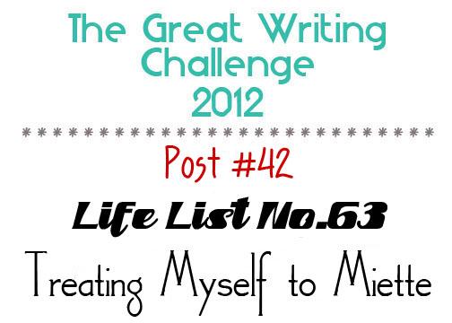 Post #42: Treating Myself to Miette.
