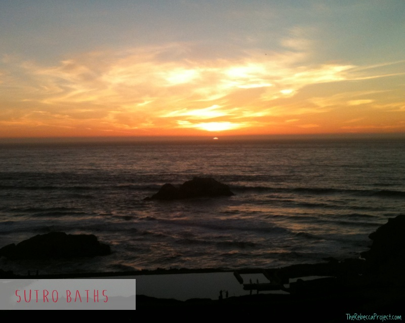 Every holiday needs a sunset moment. The Sutro Baths, SF.