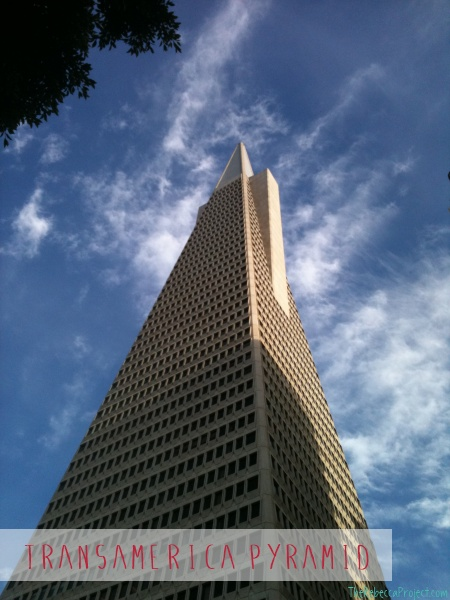 The most iconic building on the San Francisco skyline: the TransAmerica Pyramid.