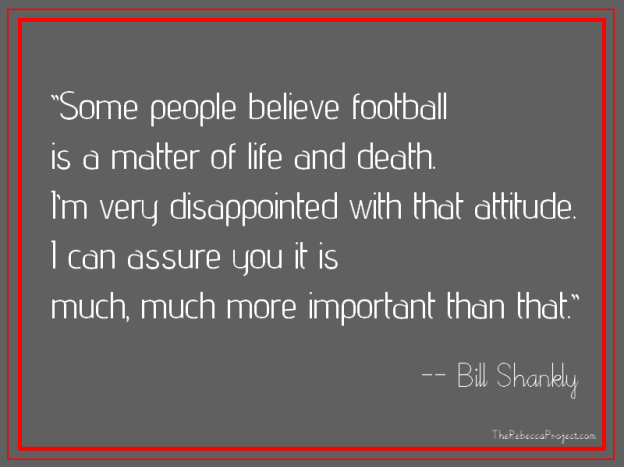 Footy is more than important.