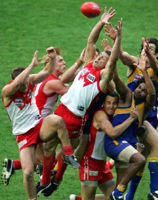Remember this? Leo Barry clinches it for the Swans in 2005.