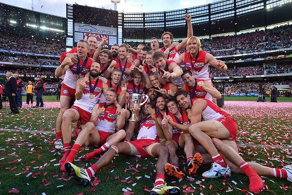 2012 Premiers: The Sydney Swans.