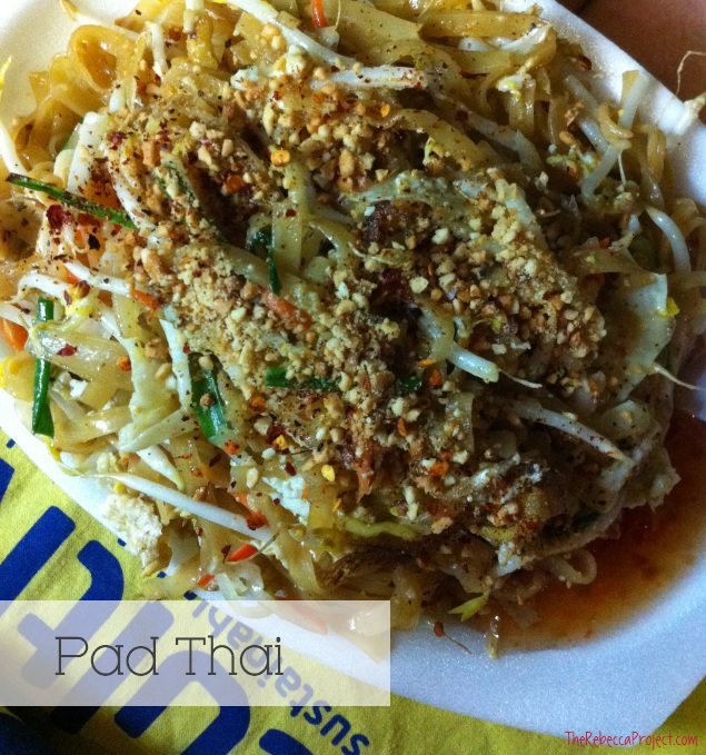 Tasty, cheap street food. This Pad Thai cost 30 Baht (about US$1).