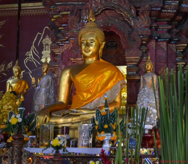 Buddha standing tall.
