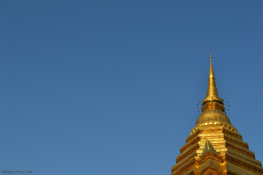 The chedi at Wat Chiang Mun.