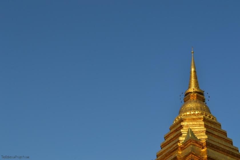 The chedi at Wat Chiang Mun.