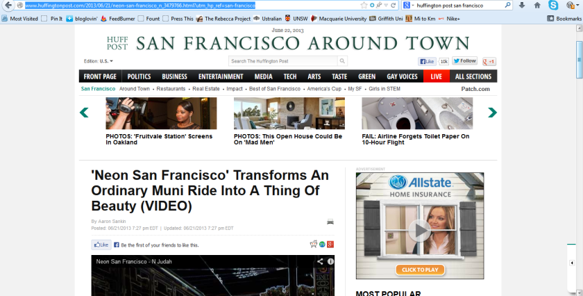 ...and then we made it to the Huff Po SF!